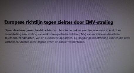 Europese richtlijn tegen ziektes door EMV-straling